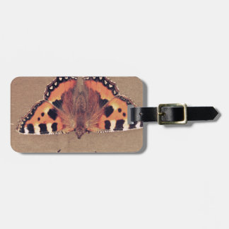 Grunge Butterfly Travel Bag Tag