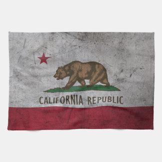 Grunge California Flag Towel