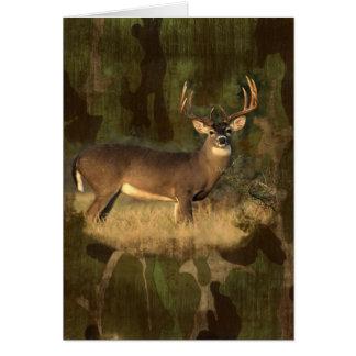 Grunge Camoflage Big Deer-  Card