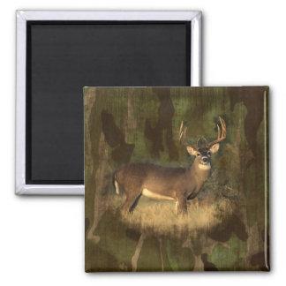 Grunge Camoflage Big Deer- Magnet