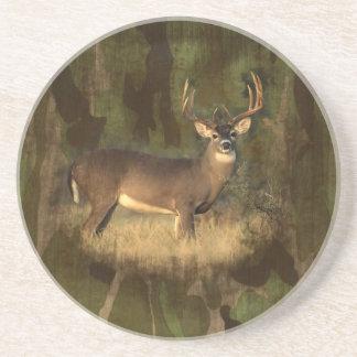 Grunge Camoflage Deer-Coaster