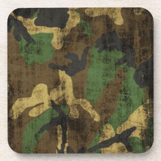 Grunge Camouflage Pattern Print Coaster