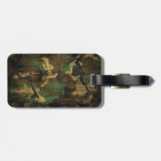 Grunge Camouflage Pattern Print Luggage Tag
