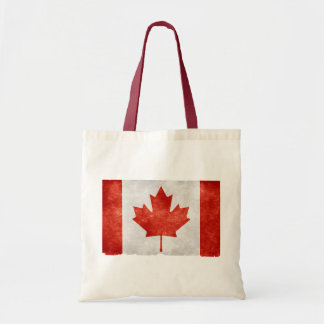 Grunge Canada Flag Canvas Bags
