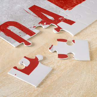 Grunge Canada Flag Jigsaw Puzzle