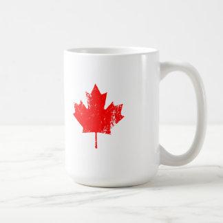 Grunge Canada Flag Maple - Red Distorted Coffee Mug