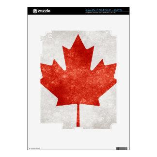 Grunge Canada Maple Leaf iPad 3 Decal