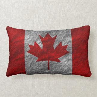 Grunge Canadian Flag 3 Throw Pillow