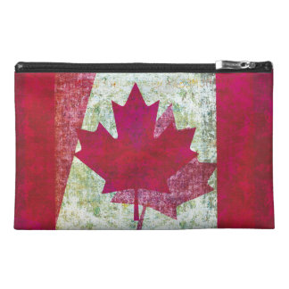 Grunge Canadian flag Travel Accessory Bags