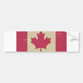 grunge canadian flag bumper sticker