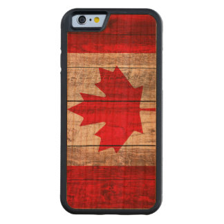 Grunge Canadian flag Carved Cherry iPhone 6 Bumper Case