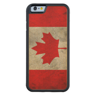 Grunge Canadian Flag Carved Maple iPhone 6 Bumper Case