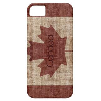Grunge Canadian flag case
