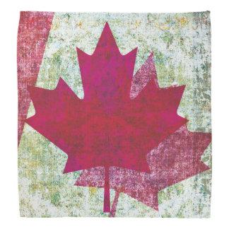 Grunge Canadian flag maple leaf Bandana