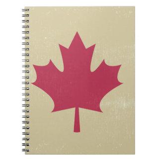 grunge canadian flag notebook