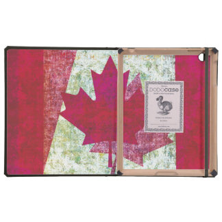 Grunge Canadian flag red maple