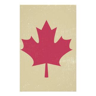 grunge canadian flag stationery