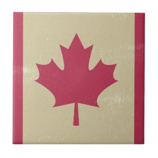 grunge canadian flag tile