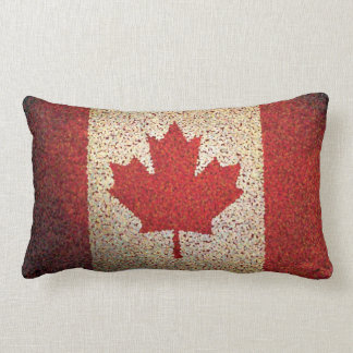 Grunge Canadian Maple Leaf Flag Pillow