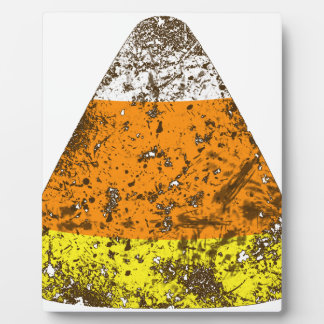 Grunge Candy Corn Photo Plaques