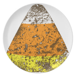 Grunge Candy Corn Dinner Plates