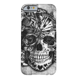 Grunge Candy sugar skull in black and white. Barely There iPhone 6 Case