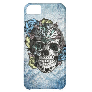 Grunge Candy sugar skull in blue yellow and pink. iPhone 5C Cover