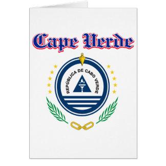 Grunge Cape Verde coat of arms designs Card