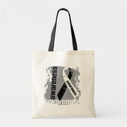 Grunge Carcinoid Cancer Awareness Tote Bag