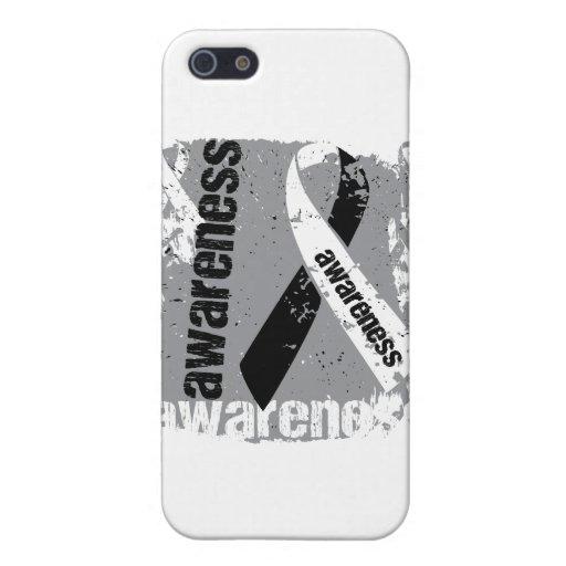 Grunge Carcinoid Cancer Awareness iPhone 5 Case