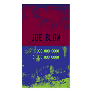 Grunge-Card 1 Double-Sided Standard Business Cards (Pack Of 100)