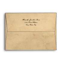Grunge Casual Brown Paper Envelope