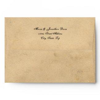 Grunge Casual Brown Paper Envelope