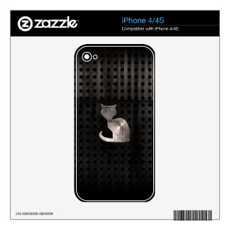 Grunge Cat Decals For The iPhone 4