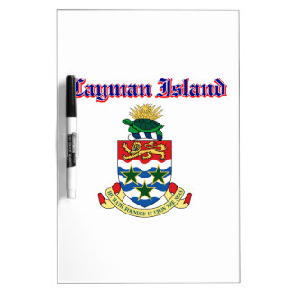 Grunge Cayman Islands coat of arms designs Dry-Erase Whiteboard