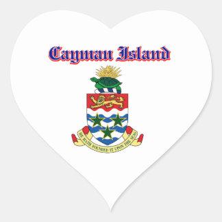 Grunge Cayman Islands coat of arms designs Heart Sticker