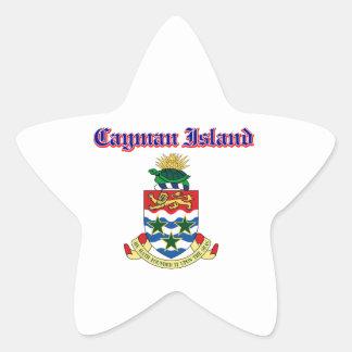 Grunge Cayman Islands coat of arms designs Star Sticker