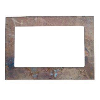 Grunge Cement Wall Background Magnetic Photo Frame