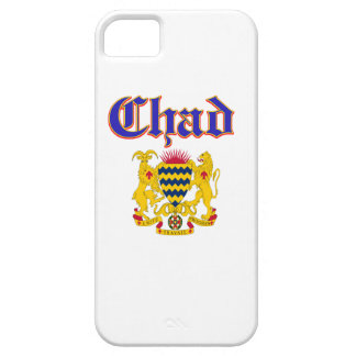 Grunge Chad coat of arms designs iPhone 5 Case