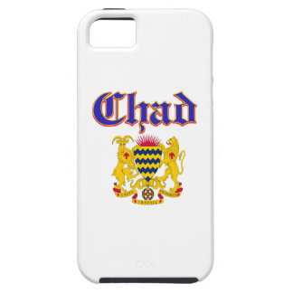 Grunge Chad coat of arms designs iPhone 5 Cases