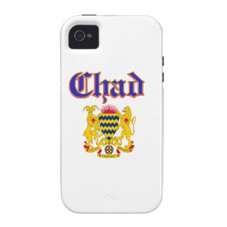 Grunge Chad coat of arms designs iPhone 4/4S Covers