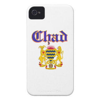 Grunge Chad coat of arms designs Case-Mate iPhone 4 Cases
