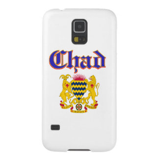 Grunge Chad coat of arms designs Galaxy S5 Cover