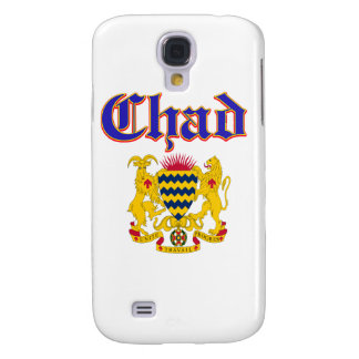 Grunge Chad coat of arms designs Samsung Galaxy S4 Cases