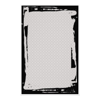 Grunge Chain Link Fence Goth Stationery