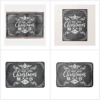 Grunge Chalkboard Christmas