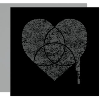 grunge chart heart card