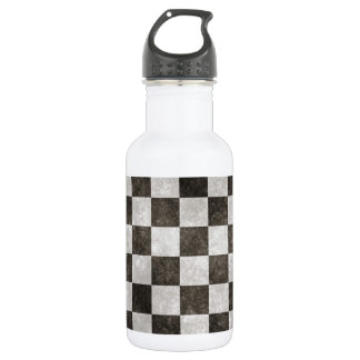 Grunge Checkers Stainless Steel Water Bottle