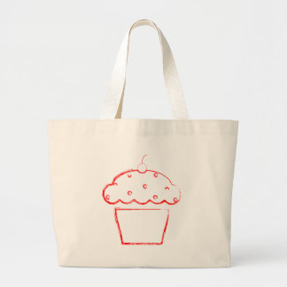 grunge cherry cupcake bag