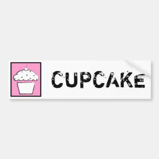 grunge cherry cupcake bumper sticker